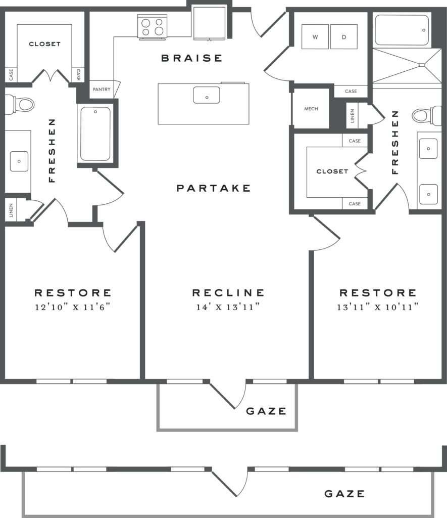 Two Bedroom Austin Apartments