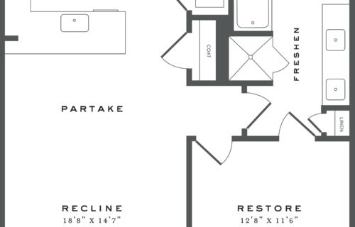 Austin one-bedroom apartment