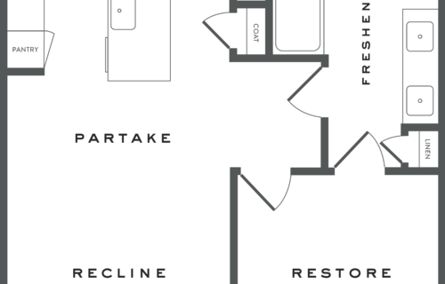 A5.B one bed/one bath at Alexan Garza Ranch - Open and Elegant Luxury