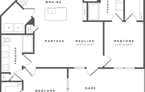 B3 two bed/two bath floorplan - Find the Lifestyle You Deserve
