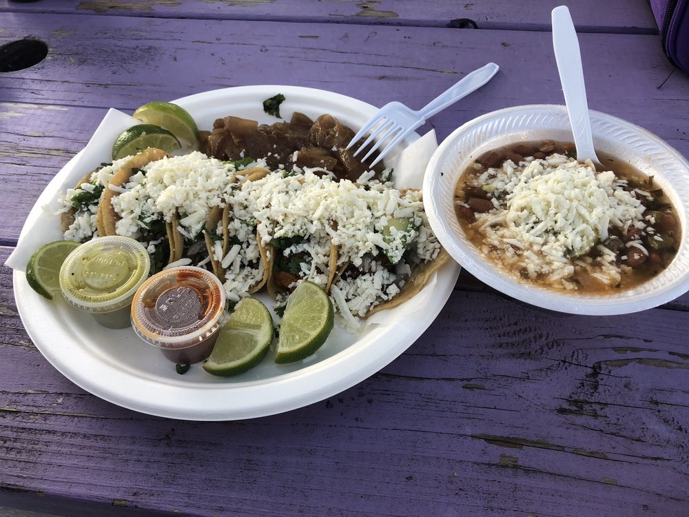 taquitos and frijoles especiales - pic by Ale M. on Yelp - Oye Taquito Near Alexan Garza Ranch
